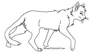 Free Cat Lineart by lakemutt