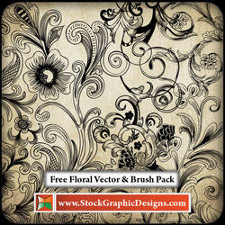 Free Floral Vector Pack by Stockgraphicdesigns