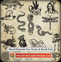 Mixed Elements Free Brushes Pack by Stockgraphicdesigns