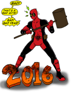 Deadpool vs 2016 by ViktorMatiesen