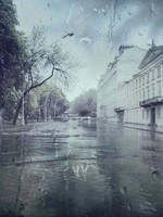 the rain is raining all around by Dyvyna