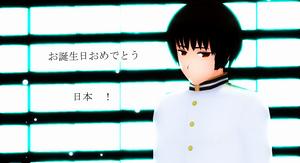 MMD - Happy Birthday Japan ! by Shichi-4134
