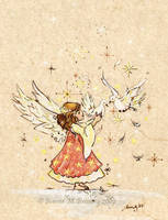 Angel and Doves by JoannaBromley