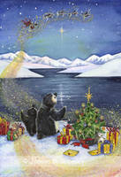 Penguins Christmas by JoannaBromley