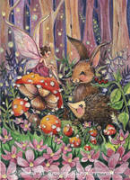 ACEO Little Rosey and Friends by JoannaBromley