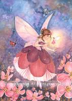 Plum Blossom Fairy by JoannaBromley