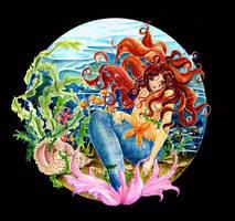 Mermaid Circle by JoannaBromley