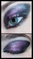 Black and Purple Makeup Eye by Kizuna-chan