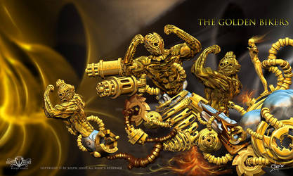 The Golden Bikers by pentil
