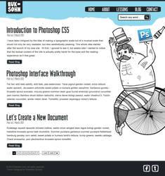 Photoshop Lessons Web Design Post Page by phraisohn