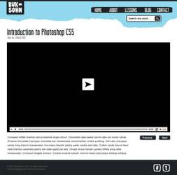 Photoshop Lessons Web Design Video by phraisohn