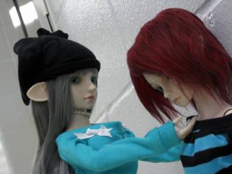 Saya and Rong by Kitsunefurryfox