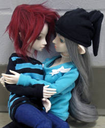 Saya and Rong 2 by Kitsunefurryfox