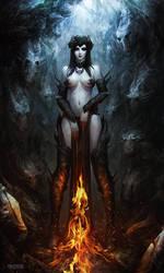 Fire Witch by AlexRaspad