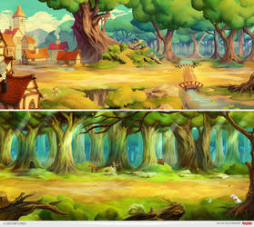 Game backgrounds by AlexRaspad