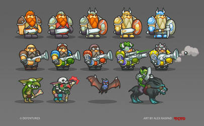 Game characters PT1 by AlexRaspad