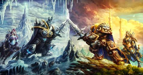 Battle of Prince Arthas by AlexRaspad