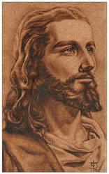 Jesus de Nazareth - Pirograbado by felixdasilva
