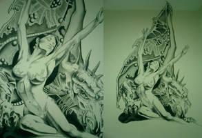 Un Dragon by felixdasilva
