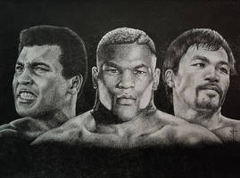 MohameDali / MikeTyson / MannyPacquiao by felixdasilva