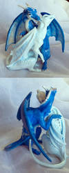 Dragon Pair Sculpture by SovaeArt
