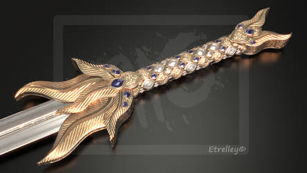 Golden Feather Sword V2 - OC by Etrelley