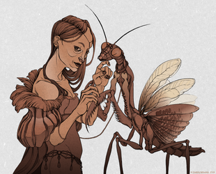 pet mantis by labirynt