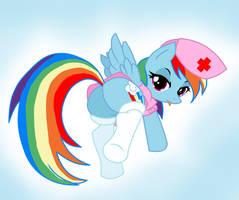 Rainbow Dash Nurse by Pyruvate
