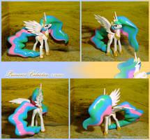 Princess Celestia figure 2.0 naughty pose by Laservega