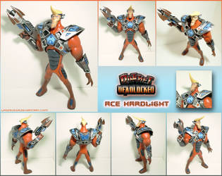 Ace Hardlight battle armor figure by Laservega