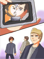 spn-bobby kiss sketch by Arkel-chan