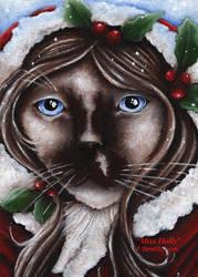Miss Holly Cat by TaraFlyArt