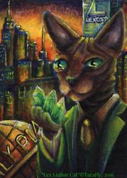Lex Luthor Cat by TaraFlyArt