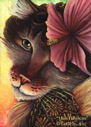 Miss Hibiscus Fairy Cat by TaraFlyArt