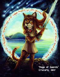 Page of Swords 78Tarot Astral Card by TaraFlyArt