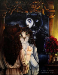 Angel of Music Phantom Cats by TaraFlyArt