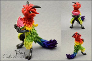 Shinlei of The Rainbow - polymer clay by CalicoGriffin