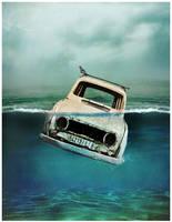 car sinking in water by kingsol04