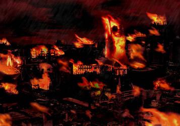 Burning City by artboy70