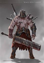 Grimdark Souls - Black Iron Tarkus by SaneKyle