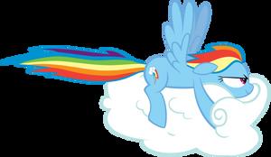 Rainbow Dash Drives a Cloud by brycehebert