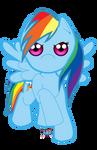 Cuties - MLP Rainbow Dash Full Body by phoenixcrash