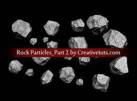 PNG Set - Stones Asteroids 2 by creativetuts