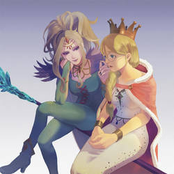 [DQ11]The Queen and The Ice Queen by hueyo