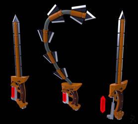 Scarlet Fury (RWBY OC weapon) by JackBryanReynard