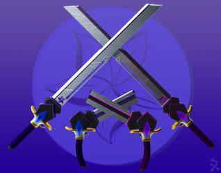 Indigo Stormcrest (RWBY OC weapon) by JackBryanReynard