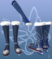 Winter Tempest / Blizzard's Touch (RWBY OC weapon) by JackBryanReynard