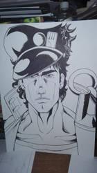 Jotaro inks by Yashasun