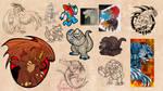 Summer 2011 kaiju art dump by Silver-Ray