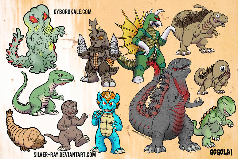 Kaiju sketch dump 2012-2017 by Silver-Ray